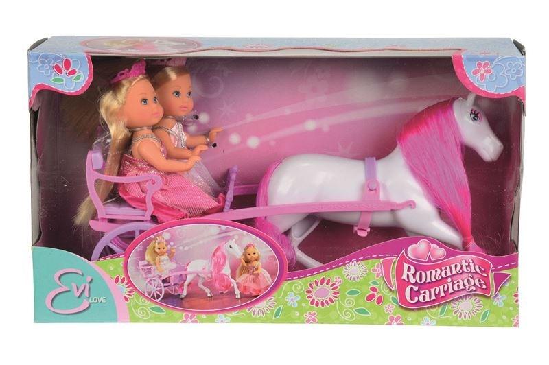 Bábiky Evičky v romantickom kočiari - Simba Bábiky Evičky v romantickom kočiari