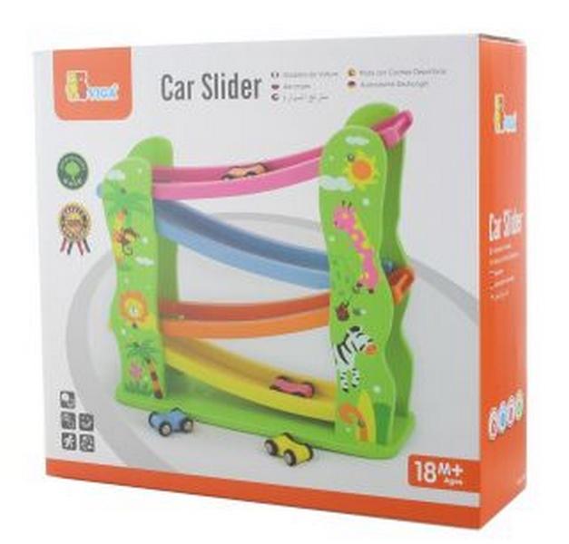 Dřevěná klouzačka s auty - Lamps Viga klouzačka s auty